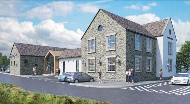 CGI of the pub/restaurant planned as part of the Higher Trewhiddle Farm development in St Austell